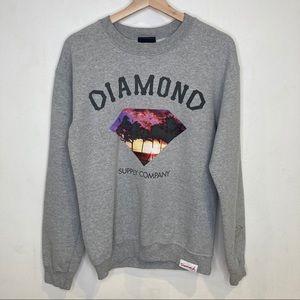 Diamond Supply Co. Gray Crewneck Sweater S